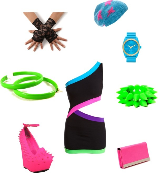 """Neon Party"" by kaylaike on Polyvore"