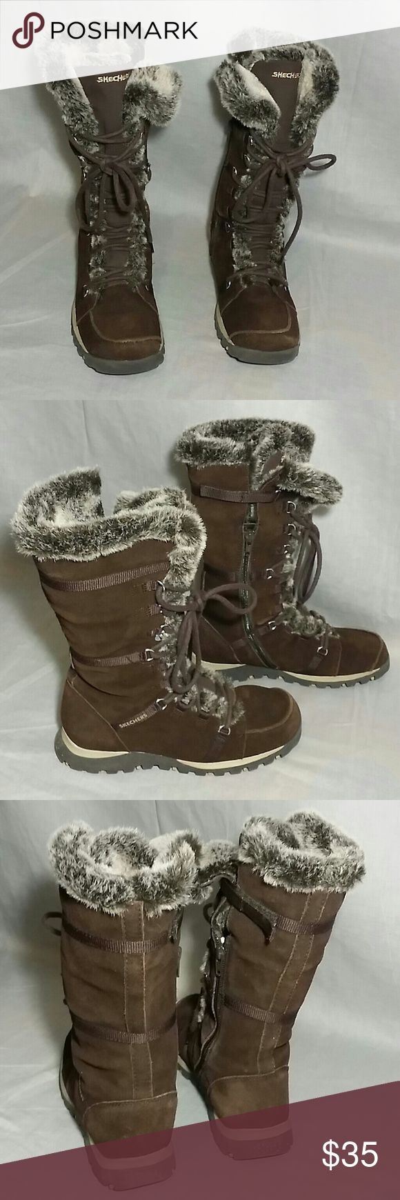 SKECHERS Winter Boots Shoes Brown 7.5 M Leather Item is in a good condition, NO PETS AND SMOKE FREE HOME. Skechers  Shoes Winter & Rain Boots