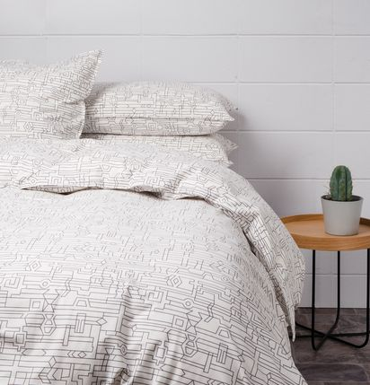 Give your bedroom a fresh Summer look with this Camino Duvet Cover for $239.00 from Citta