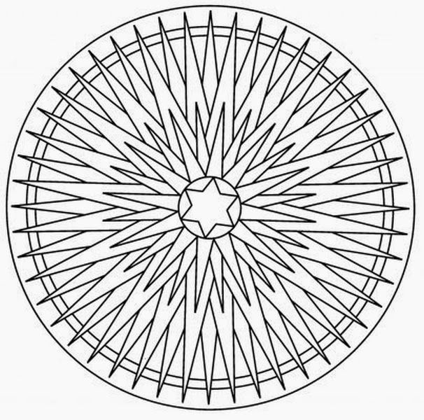 9 best sun images on Pinterest Coloring books, Mandala coloring - triangular graph paper