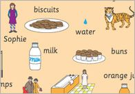 'The Tiger Who Came To Tea' Word Mats