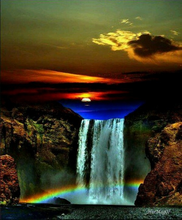 Colorful waterfall | Peaceful beauty | Pinterest | Waterfalls - photo#30