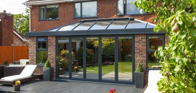 Modern Orangery In Grey Conservatory Conservatory Design Conservatory Prices
