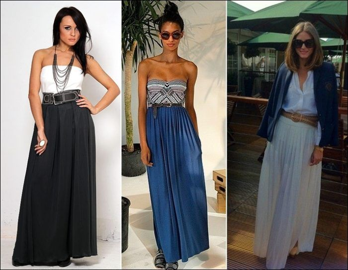 Длинные летние юбки. Модели и фасоны длинных летних юбок