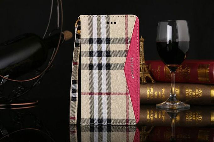 Burberry Samsung Galxy S6 Edge Cases Wallet Red :: Burberry Galxy S6 Edge Cases Covers Sleeve Coque Fundas Capa Para