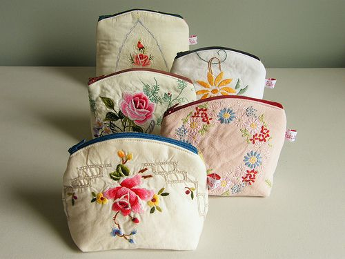 make-up pouches by too crafty, via Flickr