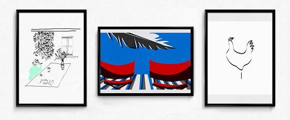 Prints on paper / home decor / stampe / decorazioni casa /