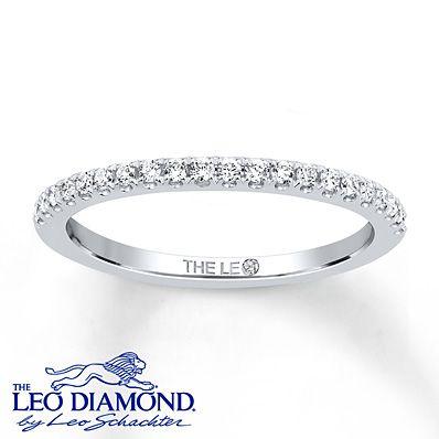 To match my engagement ring. Leo Wedding Band 1/5 ct tw Diamonds 14K White Gold