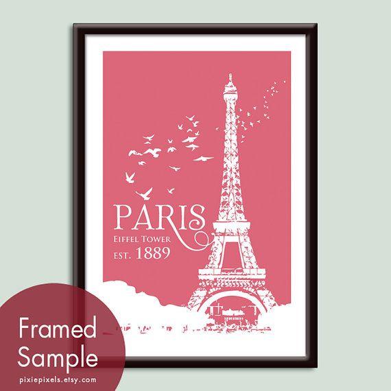Paris Eiffel Tower Travel Posters  13x19 Poster by pixiepixels, $19.9513X19 Art, Paris Eiffel Towers, Art Prints, Posters Features, Prints Customizable, Travel Posters, 13X19 Posters, Towers Travel, Raspberries Kisses
