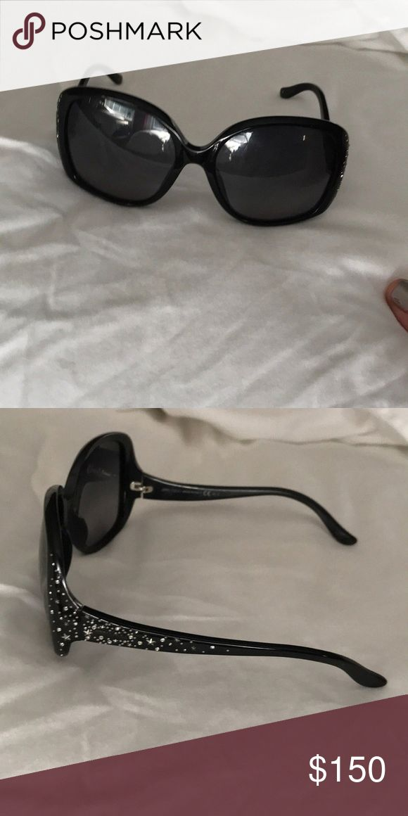 1b74cfbdf4 Jimmy Choo sunglasses Black frame with rinestone on side good condition Jimmy  Choo Accessories Glasses  JimmyChoo