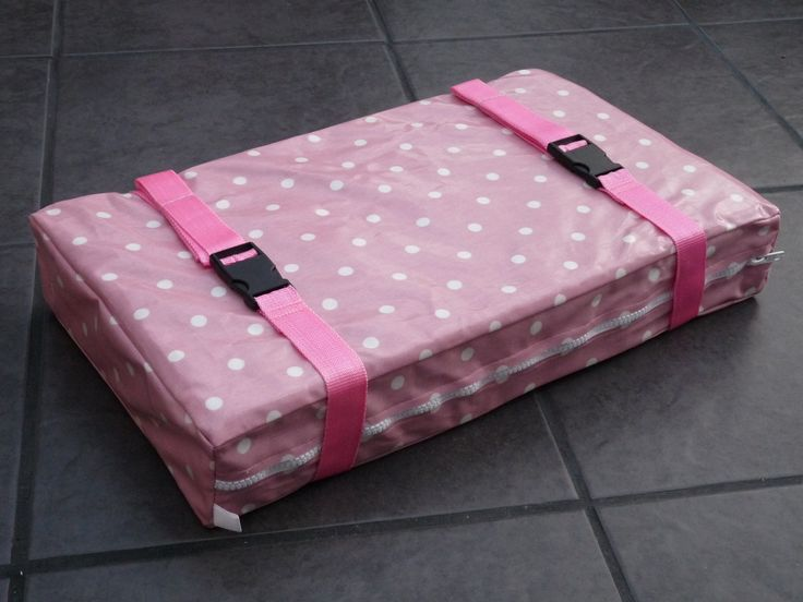 Bespoke, Handmade Pink Spot Oil Cloth Gig Rowing Boat Seat Pad.