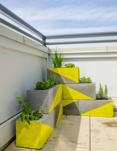 Idées déco pour le jardin avec des parpaings