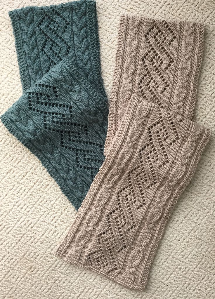 Ravelry: Coventry Cables & Lace Scarf pattern by Donna Brooks