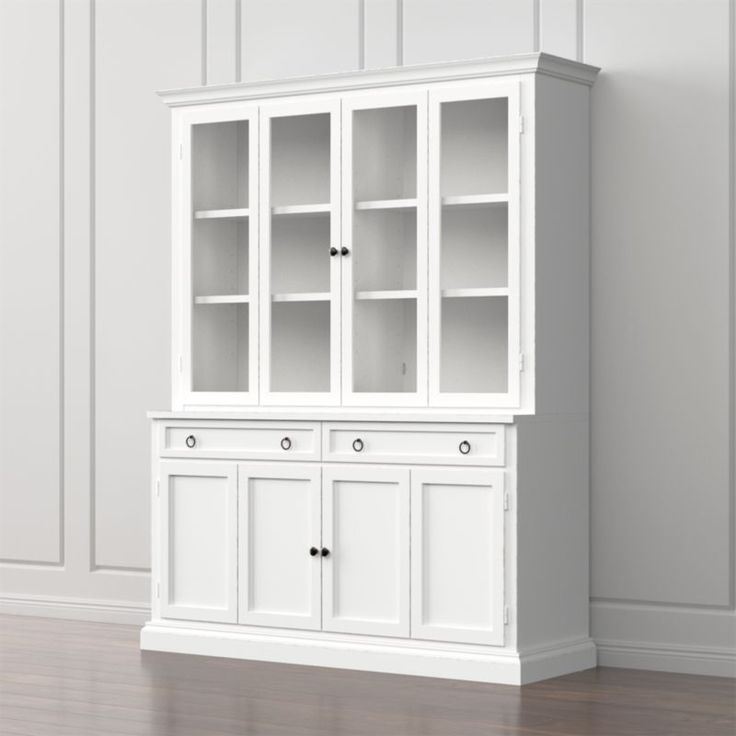 Cameo 2Piece White Glass Door Wall Unit in 2019 Home
