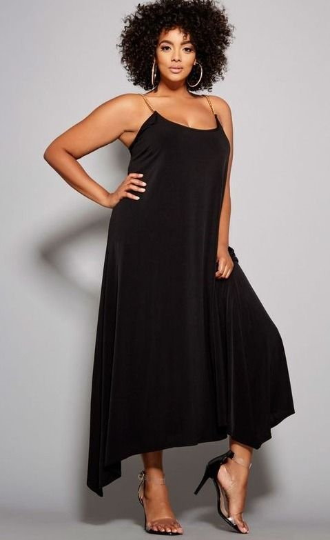 bc1c69720 Black Sleeveless Plus Size Cocktail Dresses - This Black Pullover style is  the perfect cocktail dress with you want to dress it up. Maxi-length.  Sleeveless.