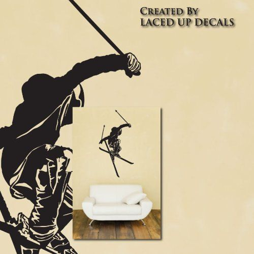 Freestyle Skiing Huge Wall Decal © Laced up Decals