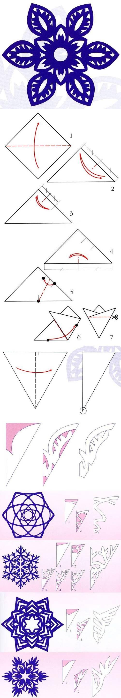 diy, snowflakes, paper pattern, tutorial