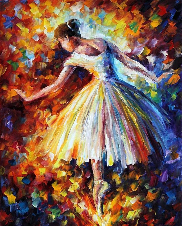 "SURROUNDED BY MUSIC — Palette knife Oil Painting  on Canvas by Leonid Afremov  - Size 24""x30"""