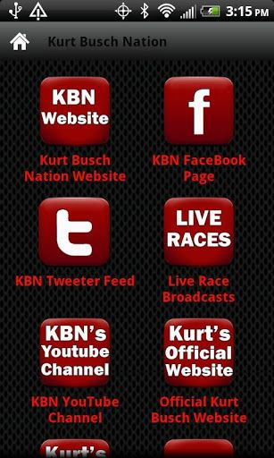 Kurt Busch Nation is the #1 Kurt Busch Fan Community. Join other fans support Kurt Busch one of the top NASCAR drivers and Phoenix Racing. This app will allow you to access all the top features of the Kurt Busch Nation Community, Kurt Busch, and Phoenix Racing right from your Android Phone or Tablet. Features like Kurt Busch Nation's and Kurt's Facebook Fan Page, keep up with the latest updates and post your status or comments to the Kurt Busch Nation's and Kurt's Facebook Fan Page rig...
