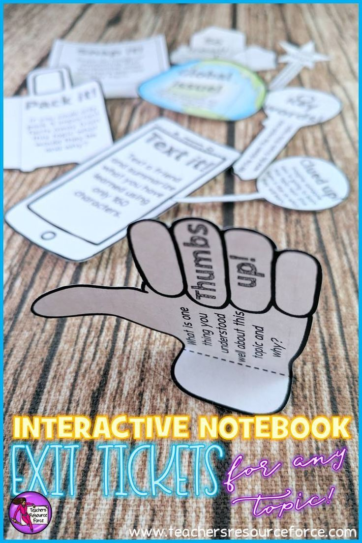 Student self assessment is a great way to check for understanding. Students love Interactive Notebooks and this editable resource is a fun and unique set of printable foldable exit tickets that enable students to reflect on their learning in a fun and modern way! They are great for early finishers and also provide you with great feedback to assess student progression in your lesson! /resourceforce/