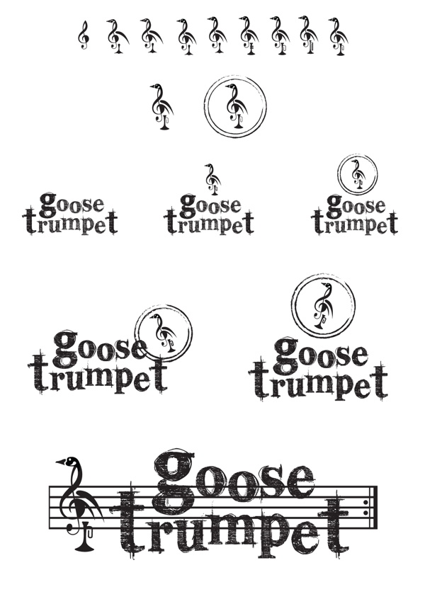 Goose Trumpet Wine Label by Sasha Fowler, via Behance