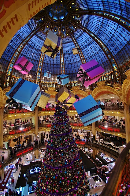 Shopping Mall in Paris decked out for Christmas  I was there in spring would like to see Christmas