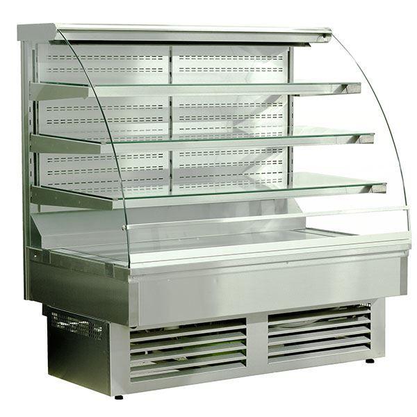 Igloo JA130WS-OPEN Jamaica Stainless Steel Open Pastry Case