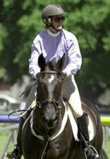 Vicki and Coalminer competing in Europe.