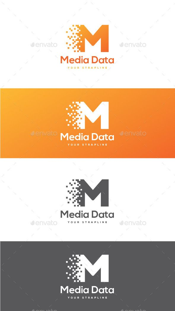 Media Data Letter M - Logo Design Template Vector #logotype Download it here: http://graphicriver.net/item/media-data-letter-m-logo/12468776?s_rank=737?ref=nexion
