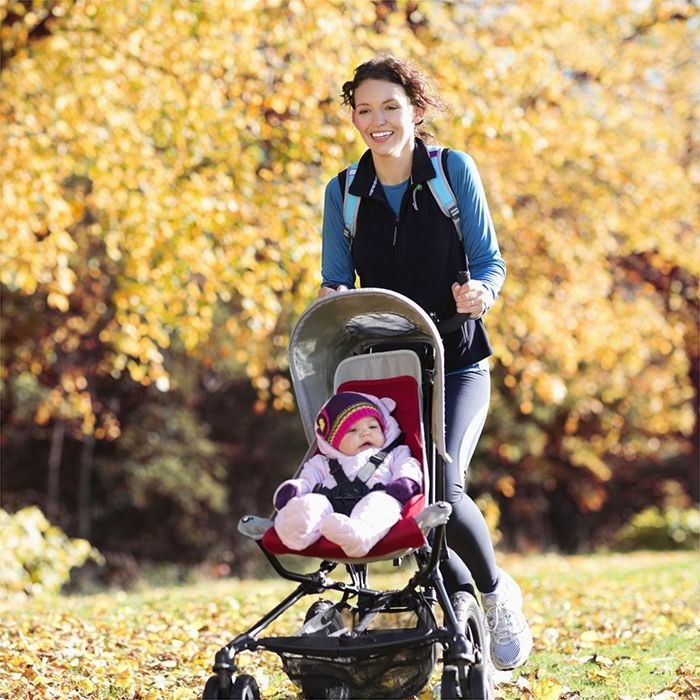 Push those post-pregnancy pounds out of your life with a fun, stroller-based workout you can do while spending time outside with your baby.