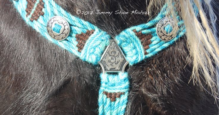Collier de chasse type martingale en Mohair 100% Mohair Breast Collar