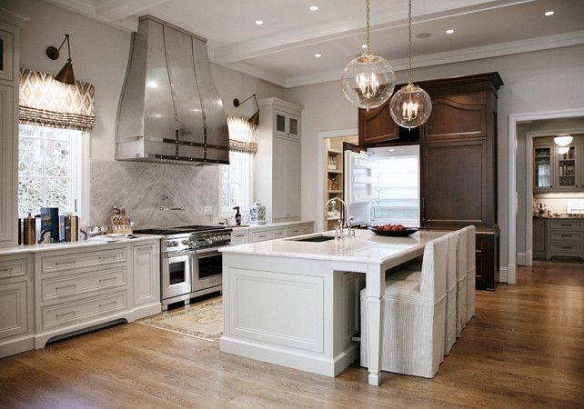 Lighting For Kitchen Island Warm White Kitchen Design & Gray Butler's Pantry (home