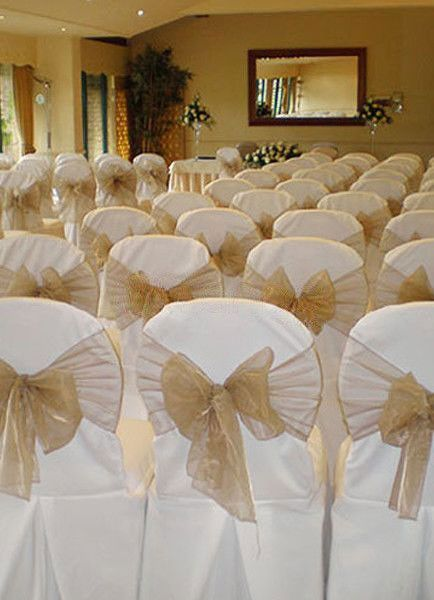 1000 images about Wedding Reception – Tulle Chair Bows