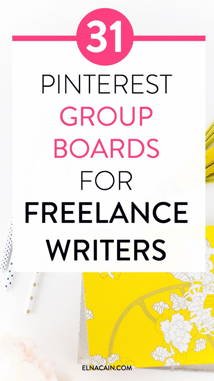Need a freelance writing job? Did you know Pinterest is a great place to find a freelance writing job? Here are 31 group boards to get in front of editors, bloggers and small business owners!