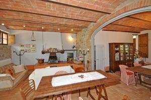 Villa Castiglione  Mooie vrijstaande villa met privé zwembad gelegen in de vallei van Orcia een schitterende omgeving ten zuiden van Siena rijk aan charmante dorpen en gehuchten zoals onder andere Montalcino Pienza San Quirico d'Orcia Castiglione d'Orcia. Deze villa is onlangs gerestaureerd en omgebouwd tot een gastvrij landhuis met mooi ingericht interieur en grote goed onderhouden buitenruimtes (6500 vierkante meter). De locatie is ideaal om bijvoorbeeld het centrum van Toscane en Umbrië…