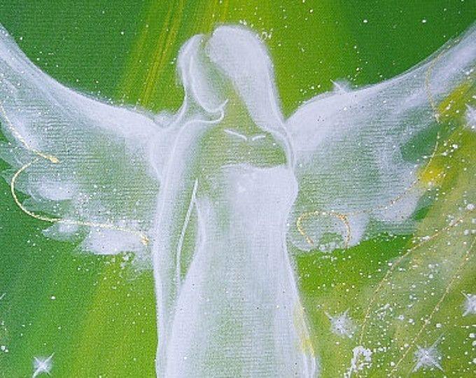 """Foto de arte de angel limitada """"Ángel"""", Ángel moderno pintura, obras de arte, ideal también para marco de foto, regalo, espiritual, mágico, místico"""