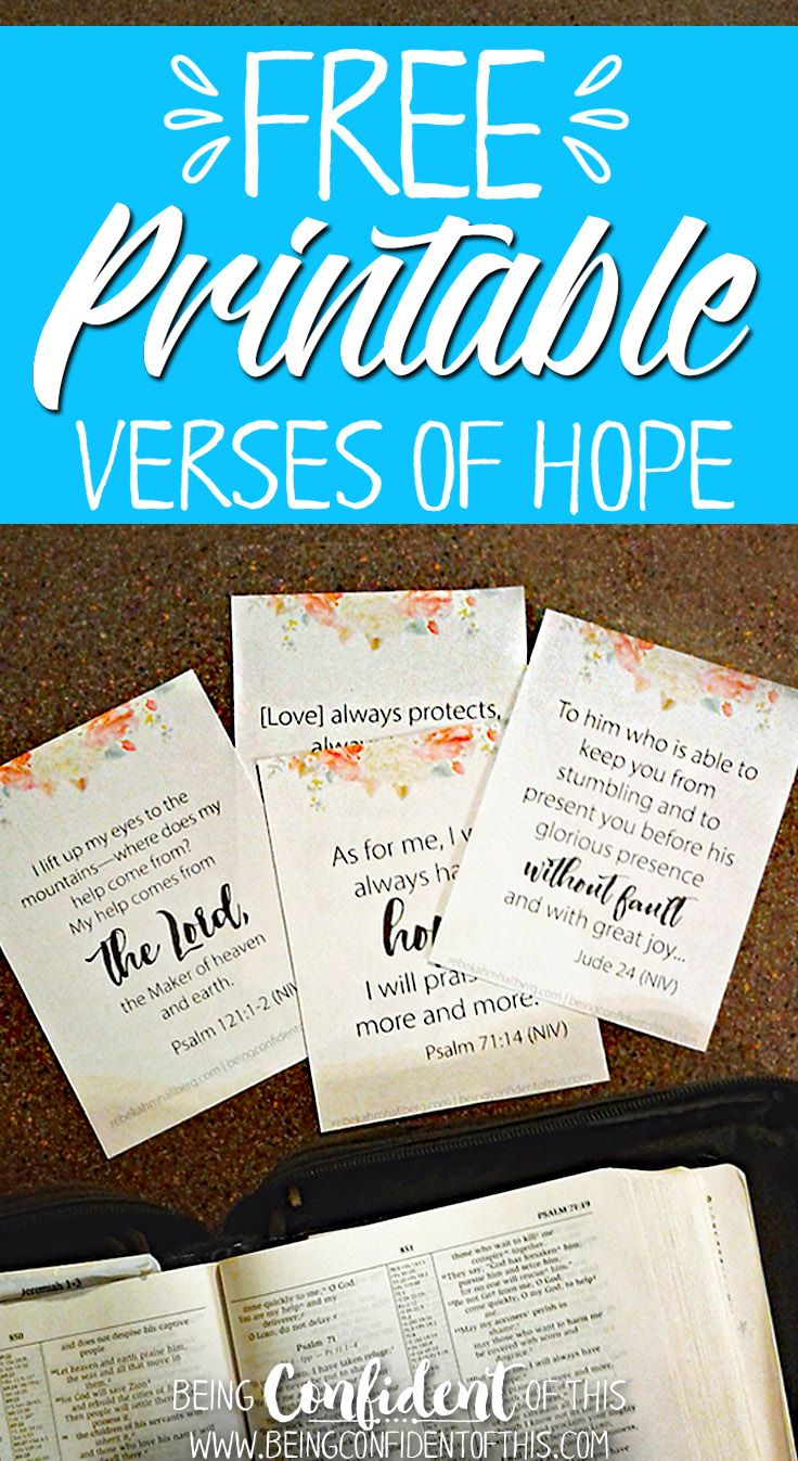 Some days we just feel like giving up on life altogether! Let these free #printable bible verses about #hope give you strength to keep pressing on! scripture|free printables|free christian resources| bible study|devotional|Being Confident of This|work in progress|spiritual growth|encouragement|christian women|women of faith|godly women|discouraged|weary|feel like giving up|need strength #bibleverse #freebie