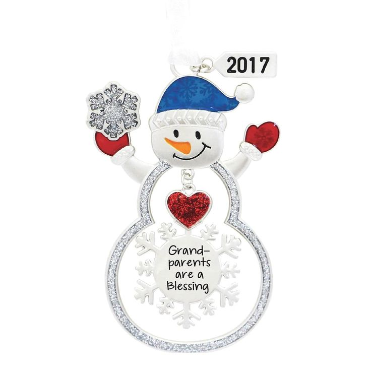"Snowman ""Grandparents Are A Blessing 2017"" Christmas Ornament, Multicolor"