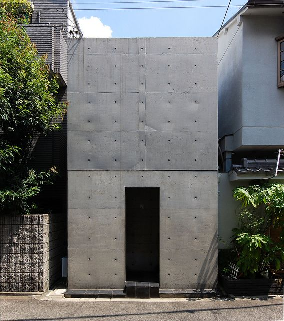 Modern row house in Sumiyoshi, Osaka designed by Tadao Ando, Japan 住吉の長屋