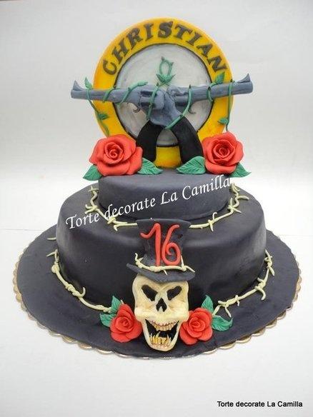 Guns N Roses Cake Decoration