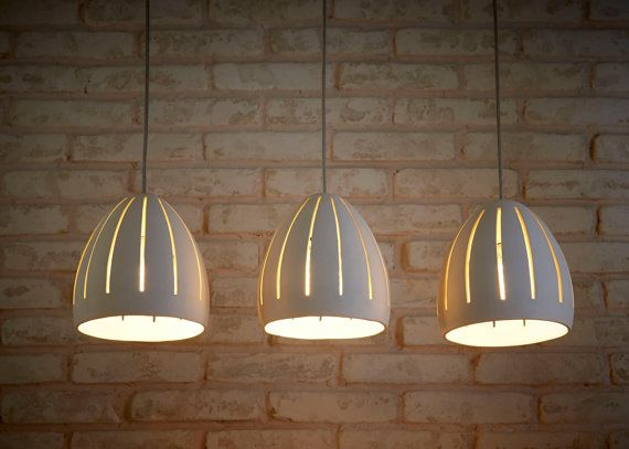 These Pendant Lights Are Hand Made Of White Stoneware. They May Be Hung  Above Your. Ceramic LightCeiling ChandelierChandeliersDining Room ...