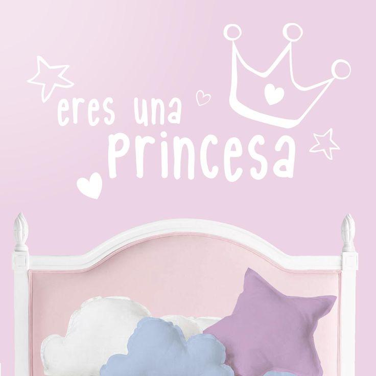 Vinilo infantil Eres una princesa. El vinilo de princesas perfecto para la habitación de la niña más coquetas de la casa. DISFRÚTALO EN NUESTRA WEB: http://dolcevinilo.es/vinilo-infantil-eres-una-princesa