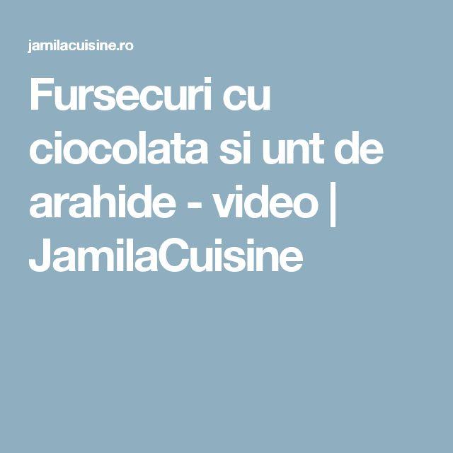 Fursecuri cu ciocolata si unt de arahide - video | JamilaCuisine