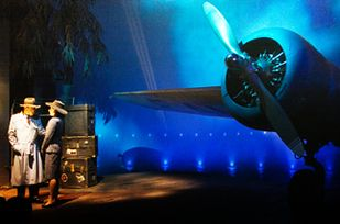 """Things You Probably Never Knew About Disney Parks 31. The airplane in the Casablanca scene in """"The Great Movie Ride"""" is actually the front half of the crashed airplane on the """"Jungle Cruise"""" ride."""