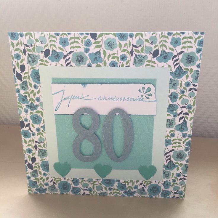 Carte de vœux joyeux anniversaire 80 ans