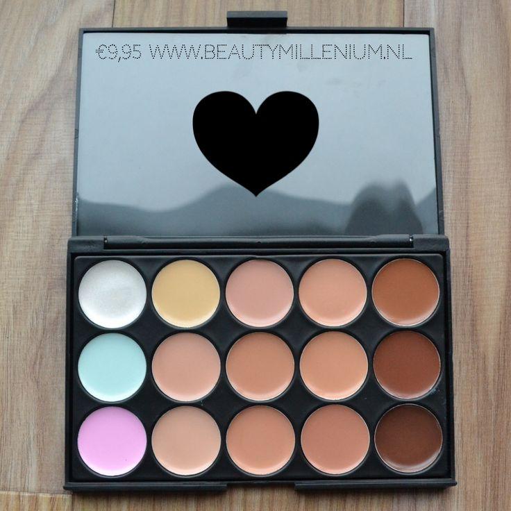 #ConcealerPalette verkrijgbaar via www.beautymillenium.nl voor maar €9,95 p/stuk! #makeuppalette #makeupkopen #beautyblogger #concealers #foundation #makeuplook