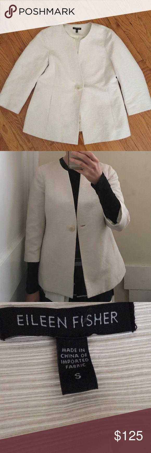 Eileen Fisher cream jacket Gorgeous! Cool oversized fit. Worn twice. Eileen Fisher Jackets & Coats
