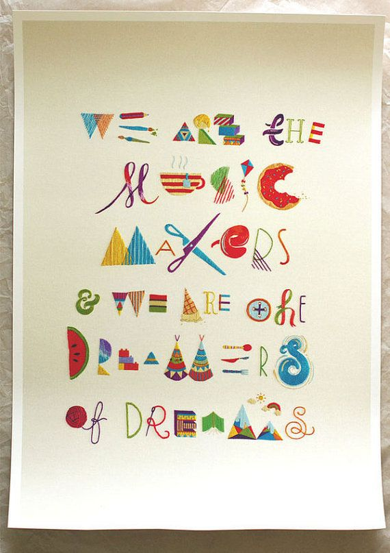 Makers Dreamers A2 giclee limited edition print by maricormaricar, $95.00