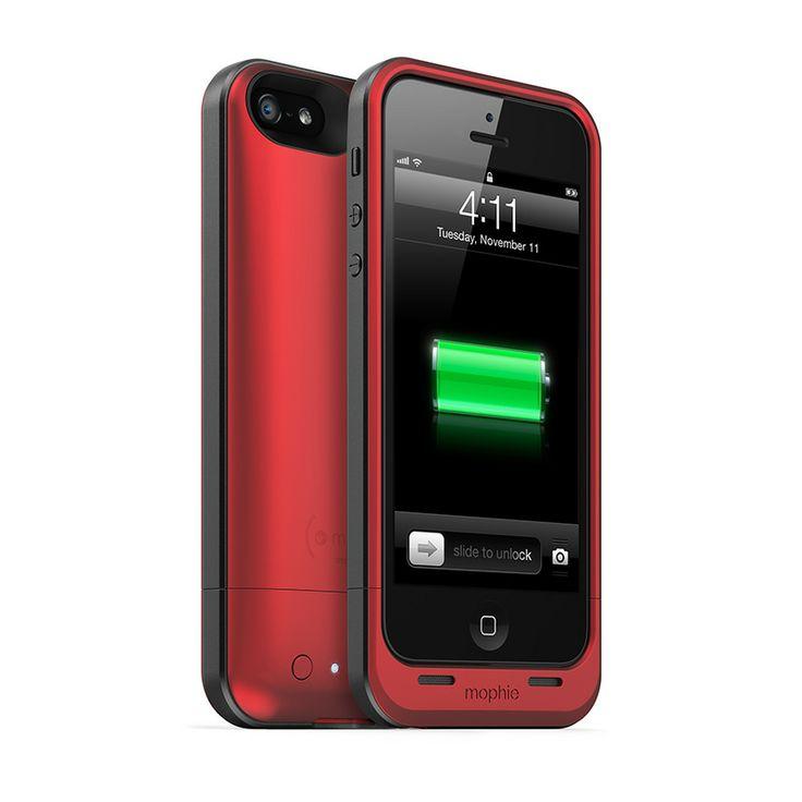Telefoonhoeje | Mophie JuicePack Air Battery Case Red voor Apple iPhone 5 - Telefoonhoesjes Shop