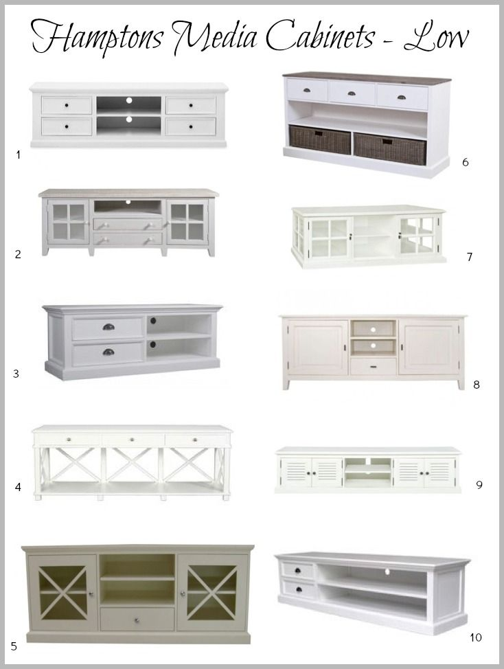 DIY Decorator | Hamptons Media Cabinet | http://diy-decorator.com.au